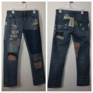 BLANK NYC patchwork jeans